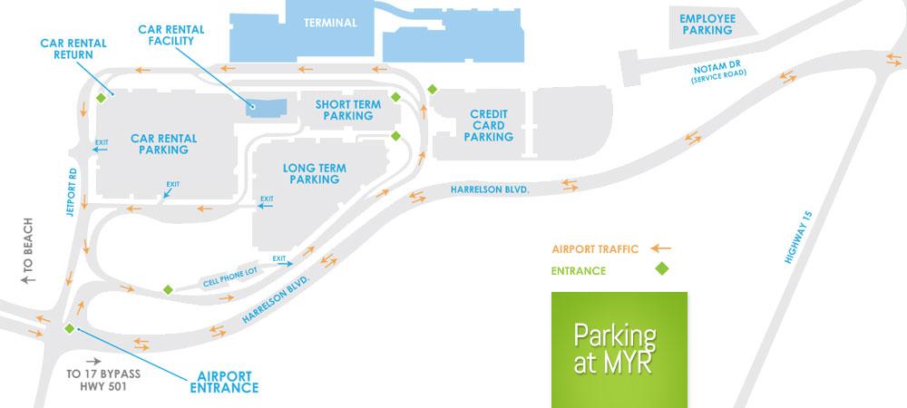Myr Parking Lots Compare Shuttle